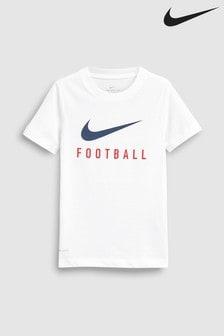 Nike Dri-FIT White Football Tee