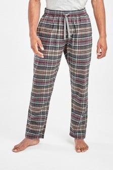 Check Brushed Woven Pyjama Bottoms
