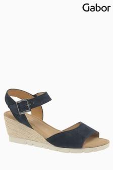 Gabor Dark Blue Suede Sandal