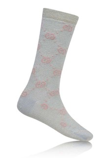 Light Blue Glittery GG Socks