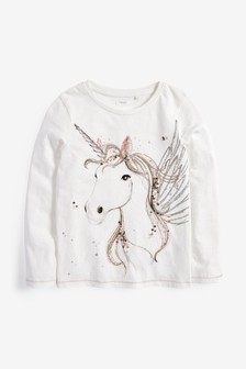 Sequin Unicorn Long Sleeve T-Shirt (3-16yrs)