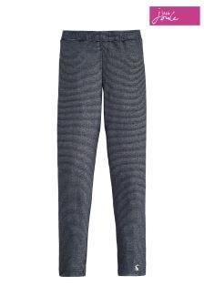 Joules Navy Metallic Stripe Jersey Glitter Tape Legging
