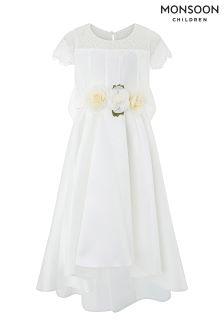 Monsoon White Angelina Dress