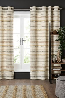 Ethnic Stripe Eyelet Curtains