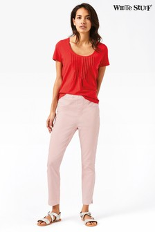 White Stuff Pink Jade Crop Jegging