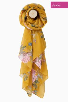 Joules Gold Chinoise Floral Wensley Scarf