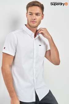Superdry White Short Sleeve Oxford Shirt