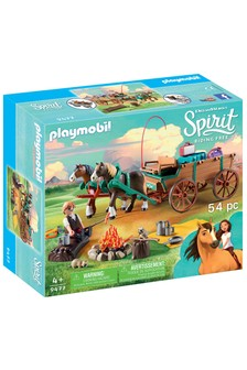 Playmobil® DreamWorks Spirit 9477 Luckys Dad And Wagon