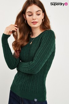 Superdry Green Croyde Knit Jumper