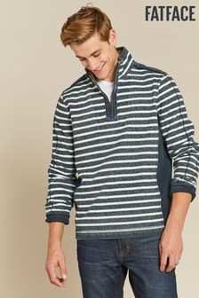 FatFace Blue Airlie Jaspe Stripe Sweat