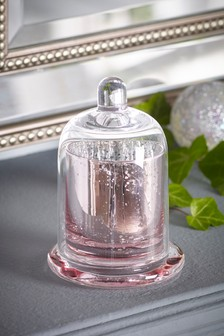 Pink Rose Cloche Candle