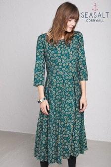 שמלה של Seasalt דגם Trewinnard Delicate Daisy Gust בירוק