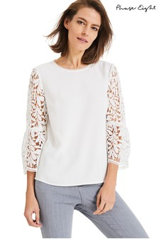 Phase Eight Cream Zennah Lace Blouse