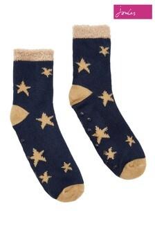 Joules Blue Star Intarsia Warm Socks
