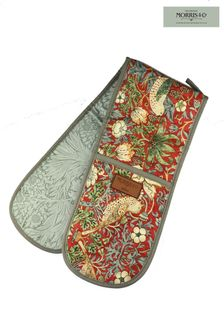 Morris & Co. Strawberry Thief Double Oven Gloves