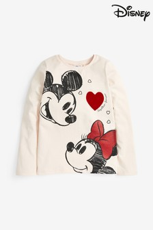 Minnie Mouse™ And Mickey Heart T-Shirt (3-16yrs)