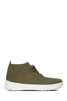 FitFlop™ Camouflage Green Uberknit™ Slip-On High Top Sneaker