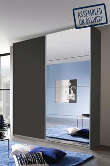 Cameron Dark Grey 1.81m Sliding Wardrobe by Rauch