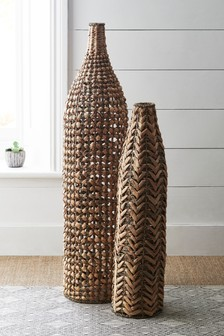 Set of 2 XL Woven Vases