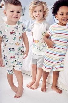 Trzy pidżamy: w paski i w motywy zwierzęce (9m-cy-8lata)