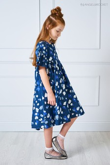Angel & Rocket Kleid mit Tiermotiv, blau
