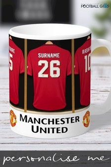 Personalised Manchester United Mug by Personalised Football Gifts