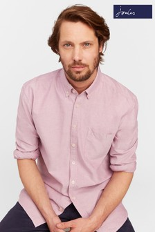 Joules Pink Long Sleeve Classic Fit Laundered Oxford Shirt