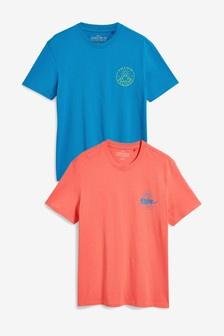 Graphic Print T-Shirts Two Pack