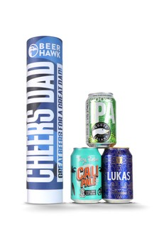 Beer Hawk Cheers Dad Beer Canister