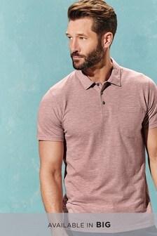 Меланжевая рубашка поло с карманом
