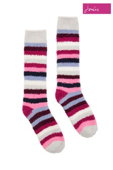 Joules Navy Supersoft Fluffy Socks