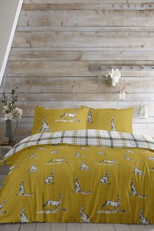 Fusion Hare Duvet Cover and Pillowcase Set