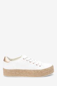נעליים עם שרוכים וסוליית אספדריל
