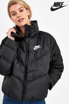Nike Black Synthetic Filled Jacket