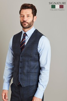 Marzotto Signature Check Suit: Waistcoat