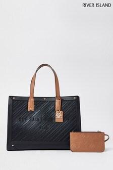 River Island Black RSD Resort Shopper Bag