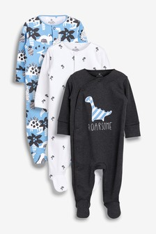 Dinosaur Character Sleepsuits Three Pack (0mths-2yrs)