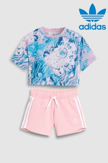 adidas Originals Little Kids Marble Tee and Short set