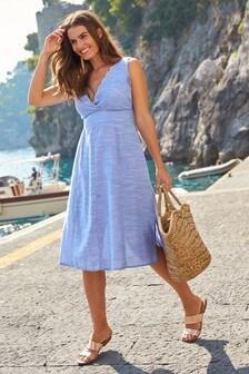 Batystowa sukienka midi