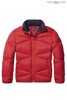 Tommy Hilfiger Red Packable Light Down Jacket