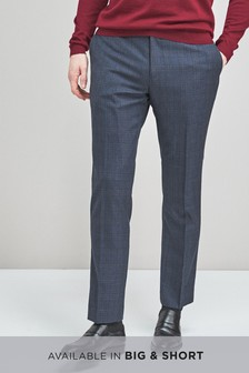 Signature Wool Blend Check Tailored Fit Trousers