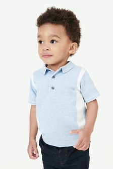 Colourblock Knitted Polo (3mths-7yrs)