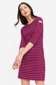 Joules Purple Stripe Riviera Dress