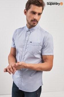 Superdry Blue Short Sleeve Oxford Shirt