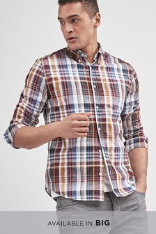 Long Sleeve Madras Check Shirt
