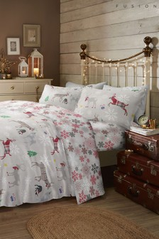 Fusion Exclusive to Next Garland Reindeer Duvet Cover And Pillowcase Set