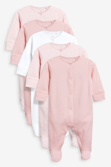 Sleepsuits Five Pack (0-0mths)