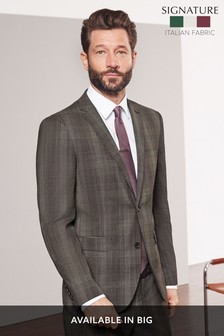 Tailored Fit Marzotto Signature Check Suit