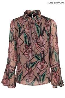 חולצה עם הדפס פרחוני של Sofie Schnoor בצבע ניוד