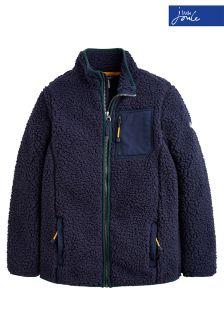 Joules Navy Ridley Zip Through Fleece